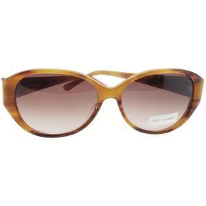 JL5003-02-58 Oval Women's Topaz Frame Sunglasses